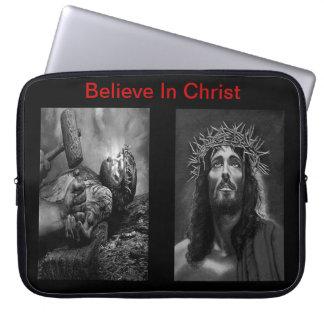 キリストのラップトップスリーブ5で信じて下さい ラップトップスリーブ