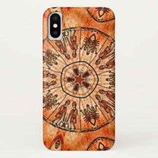 キリストの三位一体の(占星術の)十二宮図の曼荼羅の箱 iPhone X ケース