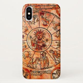 キリストの中世(占星術の)十二宮図のカレンダーの箱 iPhone X ケース