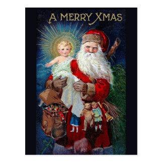 キリストの子供を持つサンタクロース ポストカード