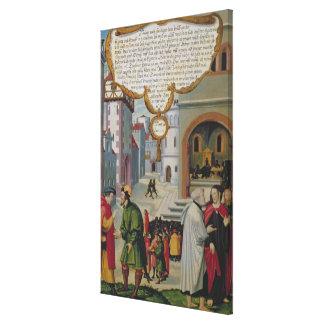 キリストの教授へのイラストレーション キャンバスプリント