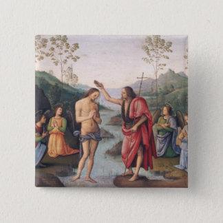 キリストの洗礼 5.1CM 正方形バッジ
