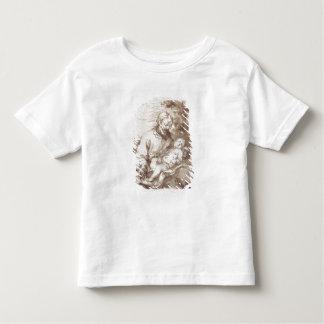 キリストの睡眠の子供を持つセントジョーゼフ(ペン及びb トドラーTシャツ