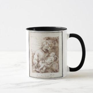 キリストの睡眠の子供を持つセントジョーゼフ(ペン及びb マグカップ