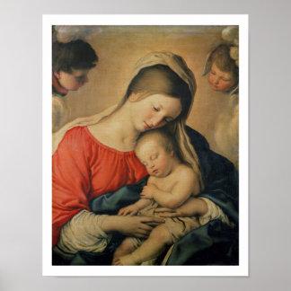 キリストの睡眠の子供(キャンバスの油) ポスター