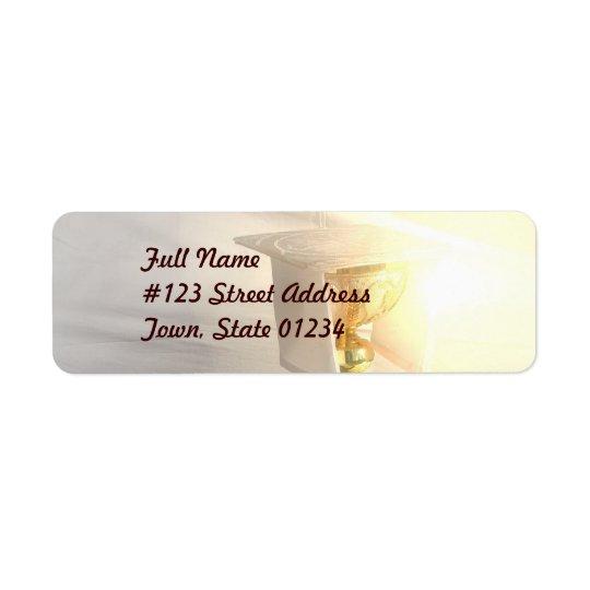 キリストの郵送物のラベルの体 返信用宛名ラベル