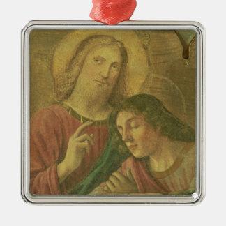 キリストの頭部、最後の晩餐から、1480年(フレスコ画) メタルオーナメント