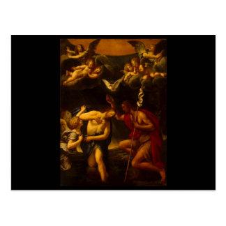 キリストのAlbaniフランチェスコの洗礼 ポストカード