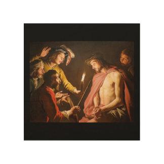 キリストはとげによって戴冠しました ウッドウォールアート