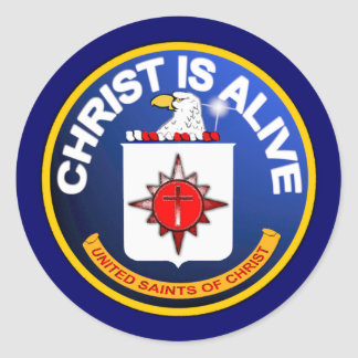 キリストは生きています-良く似たCIAアイコン ラウンドシール