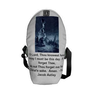 キリストは私を学校のバックパック覚えています メッセンジャーバッグ
