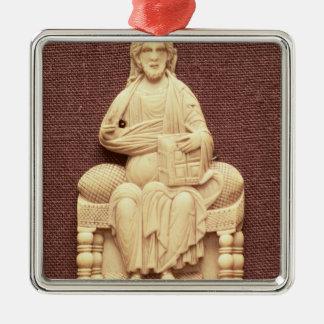 キリストは、ビザンチン、10第11世紀即位しました メタルオーナメント