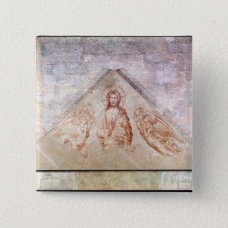 キリストを描写するTympanum Redemptor 5.1cm 正方形バッジ