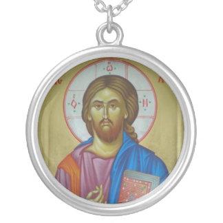 キリストアイコン シルバープレートネックレス