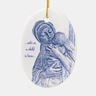 キリスト及びキリストCrucifixiのマドンナ及び子供の誕生 セラミックオーナメント