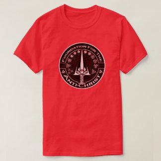 キリスト反対者の記号のための赤い基礎 Tシャツ