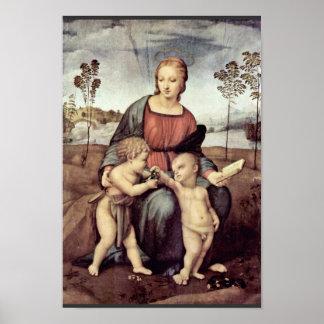 キリスト子供および洗礼者ヨハネを持つメリー、 ポスター