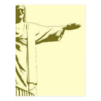 キリスト救い主。 リオデジャネイロ ポストカード