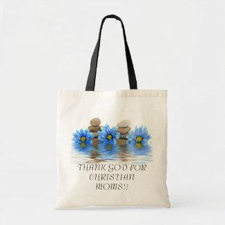 キリスト教のお母さんのために神を感謝していして下さい!! … 宗教母 トートバッグ