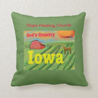 キリスト教のイエス・キリストアイオワの農場場面装飾用クッション クッション