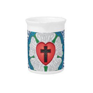 キリスト教のギフトのLutherバラのイエス・キリストの十字の神の天使 ピッチャー
