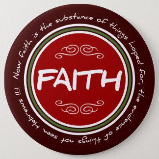 キリスト教のクリスマスの信頼の聖書の詩の円形ボタン 15.2CM 丸型バッジ