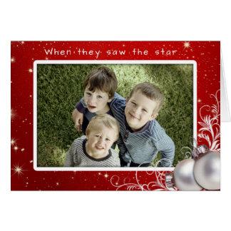 キリスト教のクリスマスの大きい写真の挨拶状 カード