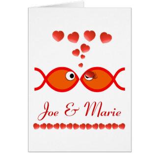 キリスト教のバレンタインの記号-オレンジv1 カード