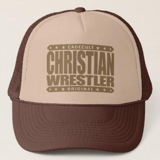キリスト教のレスリング選手-神はフリースタイルレスリングを愛します キャップ