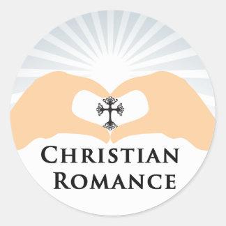 キリスト教のロマンスのジャンルの表紙の円形のステッカー ラウンドシール