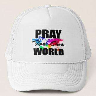キリスト教の信頼の世界の祈りは私達の世界のために祈ります キャップ