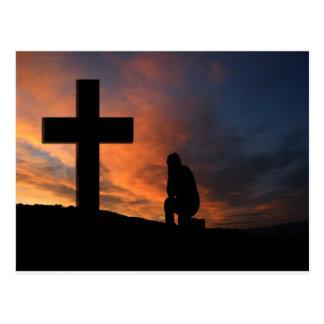 キリスト教の信頼の十字のイエス・キリストの平和愛運命 ポストカード