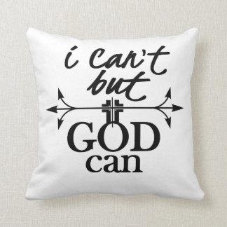 キリスト教の信頼私はできませんが、神はできます クッション