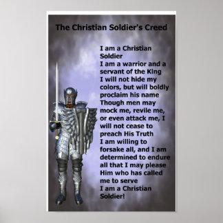 キリスト教の兵士の信条 ポスター