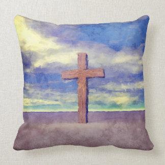 キリスト教の十字の景色 クッション
