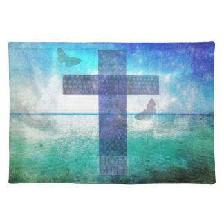 キリスト教の十字の現代美術 ランチョンマット