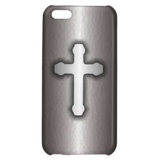 キリスト教の十字の(鋼鉄) iPhone 5つのケース iPhone5C カバー