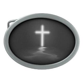 キリスト教の十字 卵形バックル