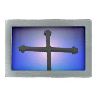 キリスト教の十字 長方形ベルトバックル