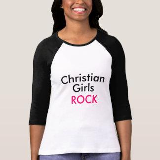 キリスト教の女の子の石の野球のティー Tシャツ