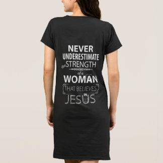 キリスト教の女性の服はイエス・キリストの強さで信じます ドレス