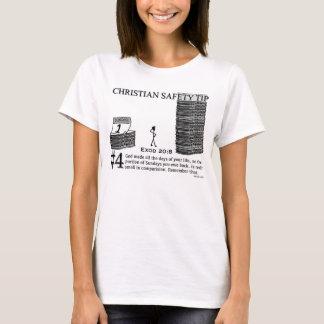 キリスト教の安全先端#4: Exodの20:8 Tシャツ