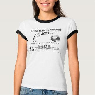 キリスト教の安全先端#6: Exodの20:13 Tシャツ