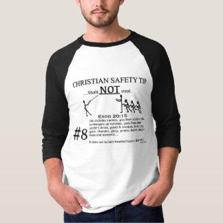キリスト教の安全先端#8: Exodの20:15 Tシャツ