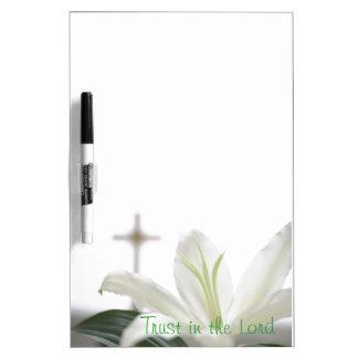 キリスト教の引用文のホワイトボード ホワイトボード