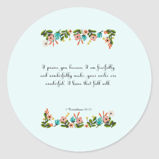 キリスト教の引用文の芸術- 1 Corinthiansの10:13 ラウンドシール