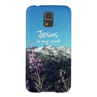 キリスト教の引用文: イエス・キリストは私の石です GALAXY S5 ケース