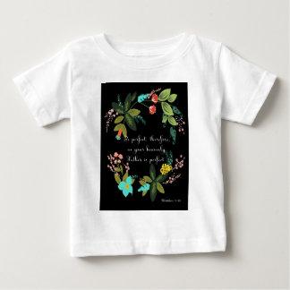 キリスト教の感動的な芸術- Matthewの5:48 ベビーTシャツ