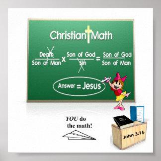 キリスト教の数学ポスター ポスター