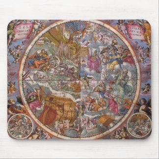 キリスト教の星座、南空の地図 マウスパッド